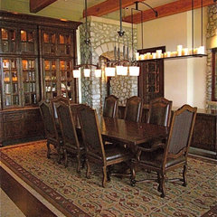 traditional dining room by InterDesign Studio