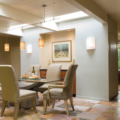 Inspiration for a transitional ceramic tile dining room remodel in Los Angeles