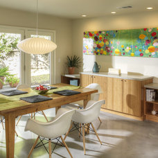 Midcentury Dining Room by MAK Design + Build Inc.