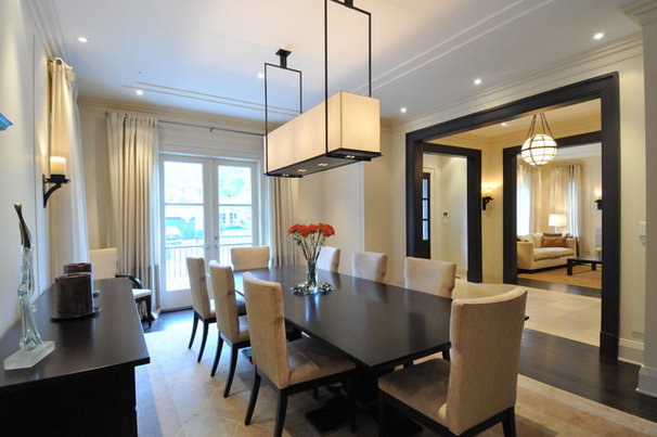 Transitional Dining Room by Sherwood Custom Homes