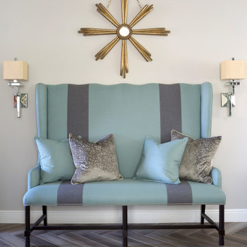 Dining Banquette with Sconces