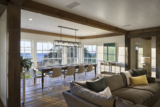Beach Style Dining Room by Ike Kligerman Barkley