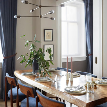 DINING | Bespoke Table with Vintage Chairs