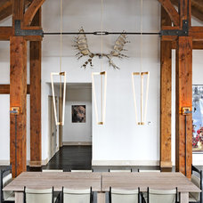 Rustic Dining Room by d'apostrophe design, inc.