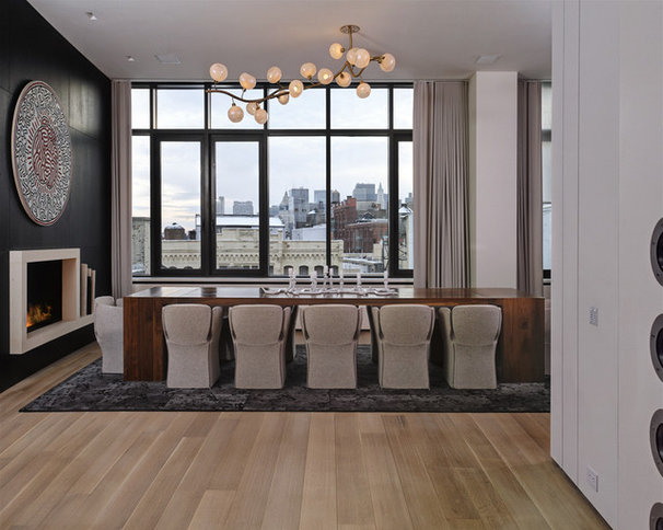 Modern Dining Room by d'apostrophe design, inc.