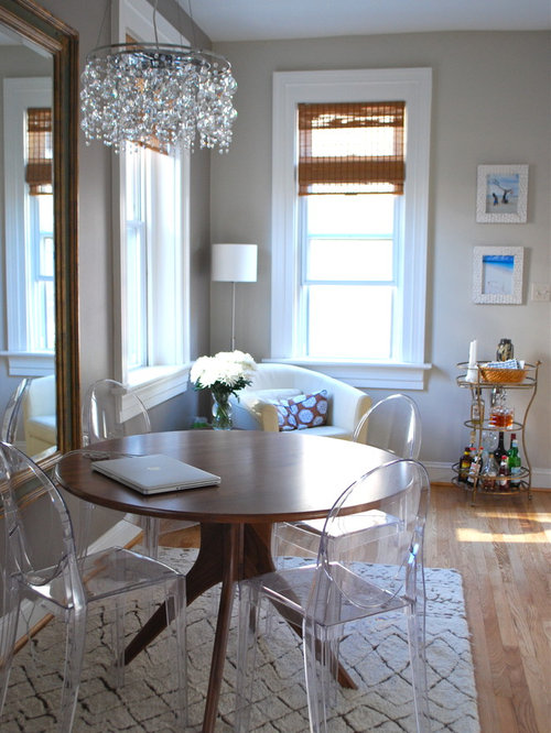 Perfect Eclectic Medium Tone Wood Floor Dining Room Photo In DC Metro With Gray  Walls