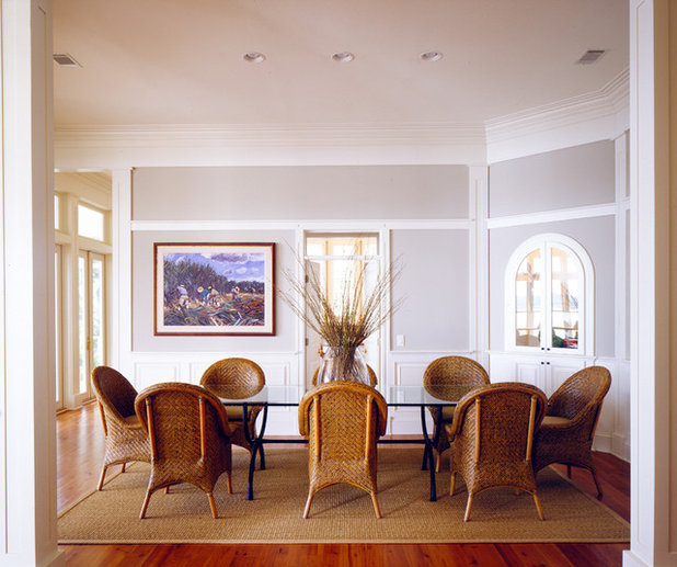 Coastal Dining Room by Frederick + Frederick Architects