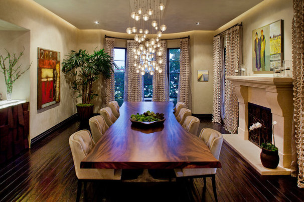 Contemporary Dining Room by Gordon Gibson Construction