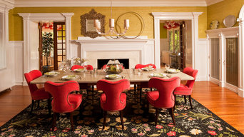 Dining in Red and Floral