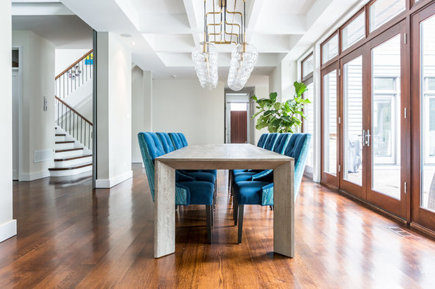 Transitional Dining Room by Lux Decor