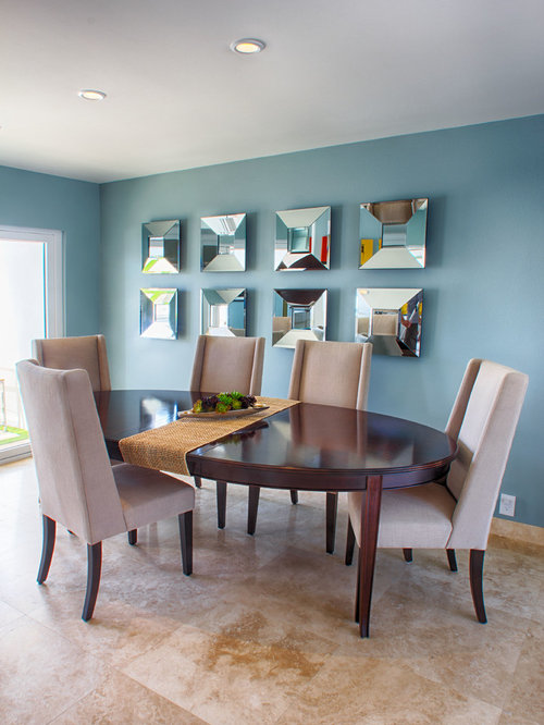 Coolly Modern Formal Dining Room Sets To Consider Getting: Mirror Art