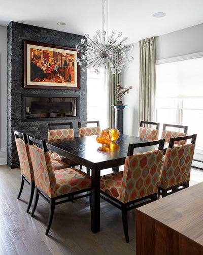 Luxury Contemporary Dining Room by Julie Dunfee Designs
