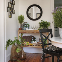 console table as buffet