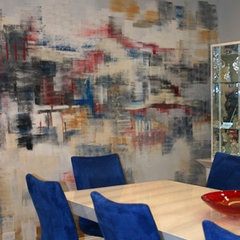contemporary dining room by JF Paris Art Studio
