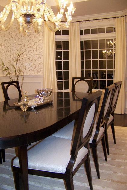 Contemporary Dining Room by Nina sobiNina Design