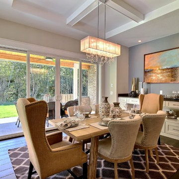 Dining Nook - The Aerius - Two Story Modern American Craftsman