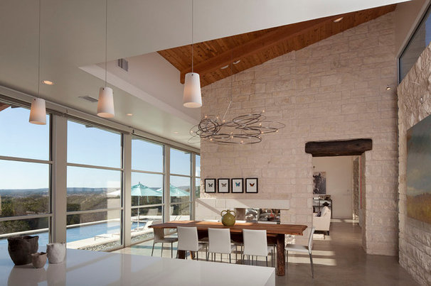 Contemporary Dining Room by Office of Architecture, Neel Morton AIA