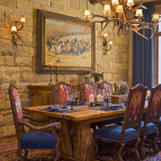 Rustic Dining Room by Rick O'Donnell Architect