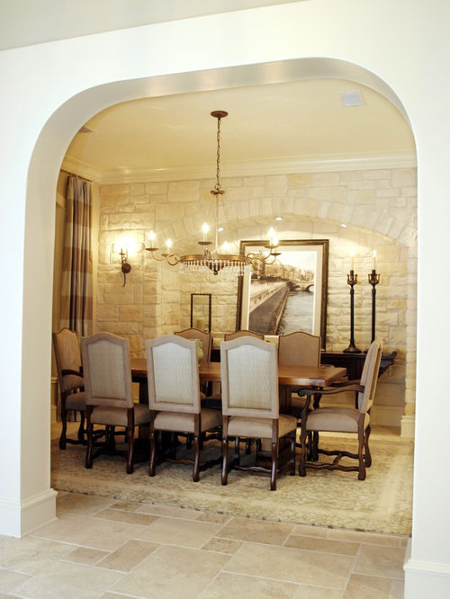 Eclectic Enclosed Dining Room Photo In Houston With Beige Walls