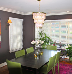 eclectic dining room by Adam P Schiff Designs