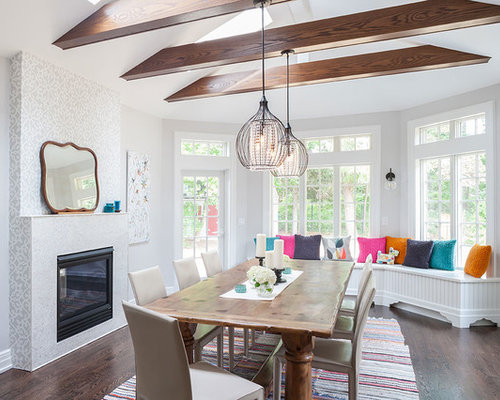 Simple Dining Room Decor For A Transitional Season: Dining Room Addition Home Design Ideas, Pictures, Remodel