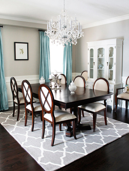 Inspiration For A Timeless Dark Wood Floor And Brown Floor Dining Room  Remodel In Toronto With