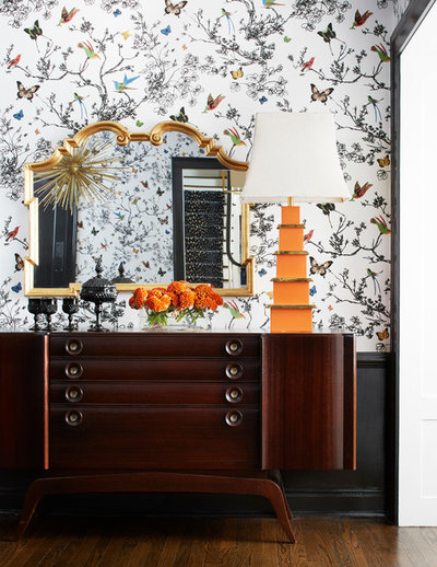 Powder Room By Amy Kartheiser Design: See What Happens When 1 House Takes On 8 Wallpapers