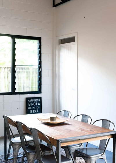 Industrial Dining Room by ARCO Designs