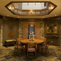 traditional dining room by Baker Court Interiors