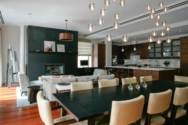 Contemporary Dining Room by Betty Wasserman