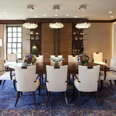 Contemporary Dining Room by Billy Beson Company