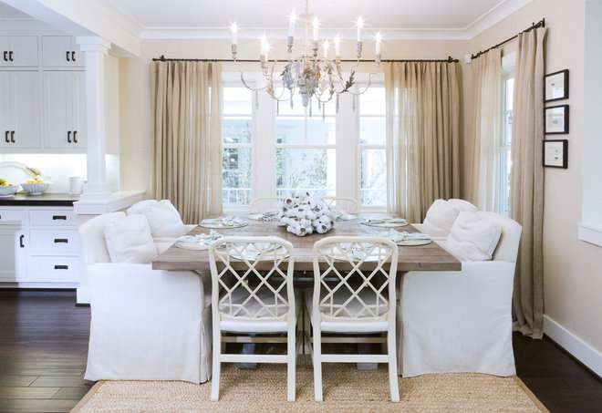 Beach Style Dining Room by Bliss Design Firm