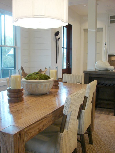 Beach Style Dining Room by Brian Watford Interiors