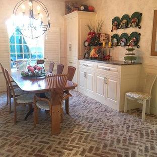 DIning Room brick tile floor