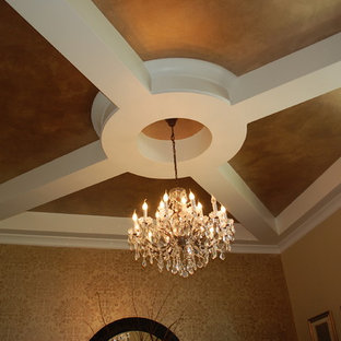 Dining Room Ceiling of European Traditional Home
