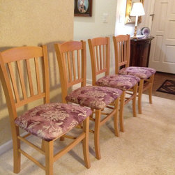 Dining Room Chairs, Reupholstered - Dining Room Chairs reupholstered