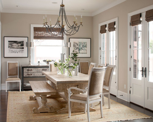 Wood And Metal Dining Table | Houzz
