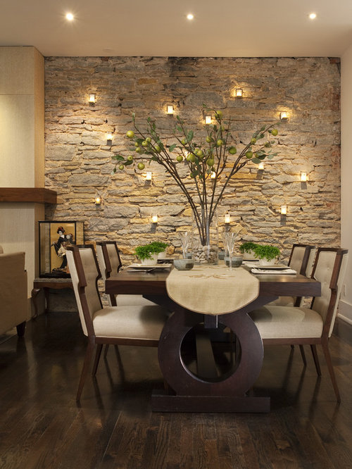 Inspiration for a contemporary dark wood floor and brown floor dining room  remodel in Minneapolis with. Unique Dining Room Sets   Houzz
