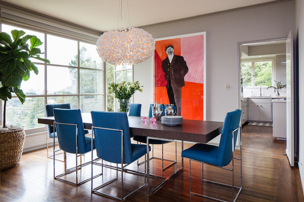 Contemporary Dining Room by Cheryl Burke Interior Design