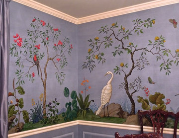 Dining Room Chinoiserie Mural