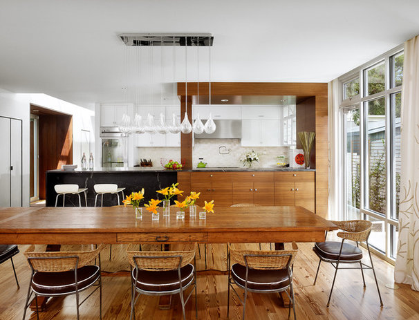 Midcentury Dining Room by Chioco Design