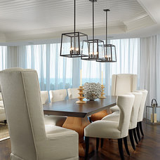 Beach Style Dining Room by Cindy Ray Interiors, Inc.