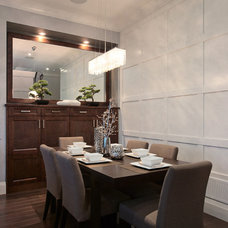 Contemporary Dining Room by Clay Construction Inc.