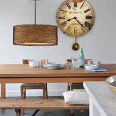Contemporary Dining Room by Clocks247