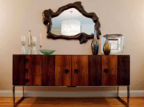 Eclectic Dining Room Dining Room Credenza