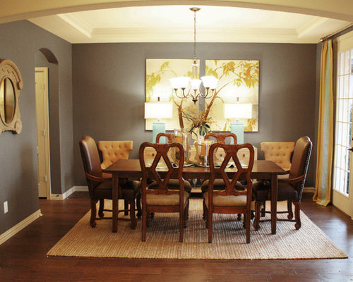 wall color for dining room houzz - Colorful Dining Room Tables