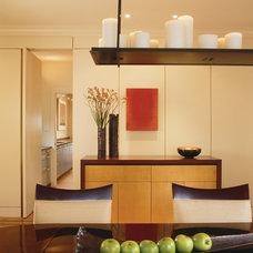 Contemporary Dining Room by Studio Santalla, Inc