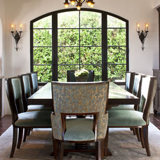 Mediterranean Dining Room by Dayna Katlin Interiors