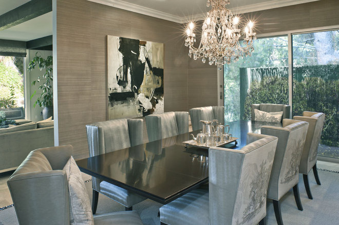 contemporary dining room by Dayna Katlin Interiors