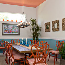 Tropical Dining Room by Caron Kelly Interiors